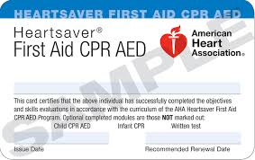 Image of First Aid CPR AED Card