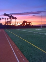 Estancia Jim Scott Stadium sunset